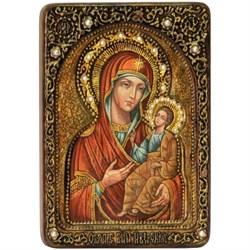 Иверская Божьей Матери, живописная икона в авторском стиле - фото 6577