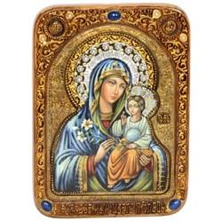 Неувядаемый цвет живописная икона Божьей Матери в авторском стиле - фото 6637