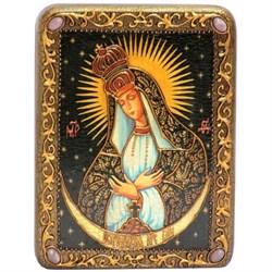 Остробрамская (Виленская) образ Божьей Матери в авторском стиле на мореном дубе - фото 6662