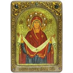 Покров Пресвятой Богородицы живописная икона в авторском стиле - фото 6680