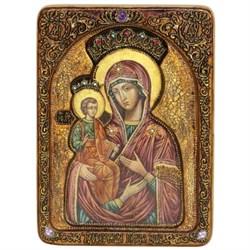 Троеручица образ Божией Матери живописная икона в авторском стиле - фото 6692