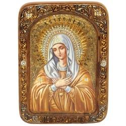 Умиление Серафимо-Дивеевская образ Божией Матери живописная икона в авторском стиле - фото 6704