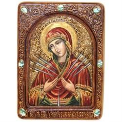 Умягчение злых сердец образ Божией Матери живописная икона в авторском стиле - фото 6718