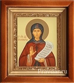 Аполинария Преподобная, икона в киоте 16х19 см - фото 6764