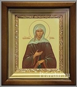 Ксения Петербургская Блаженная, икона в киоте 16х19 см - фото 6794