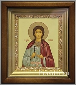 Любовь Святая мученица, икона в киоте 16х19 см - фото 6798