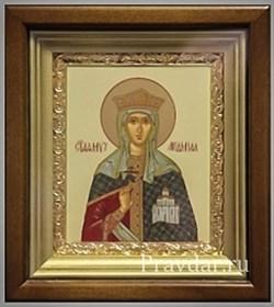 Людмила Чешская Святая княгиня, икона в киоте 16х19 см - фото 6802