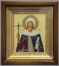 Нина Святая равноапостольная, икона в киоте 16х19 см - фото 6816