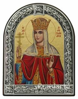 Александра Римская, икона с серебряной рамкой - фото 6916