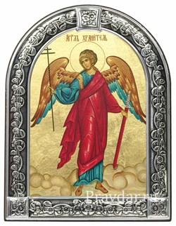 Ангел Хранитель, икона с серебряной рамкой - фото 7048