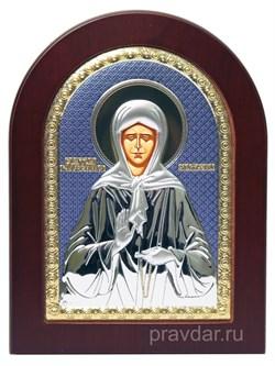 Матрона Московская, икона с серебряным окладом - фото 7180