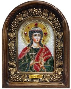 Алла Святая мученица, дивеевская икона из бисера - фото 7204