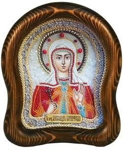 Александра Коринфская, дивеевская икона из бисера - фото 7217