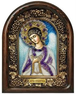 Ангел Хранитель, дивеевская икона из бисера ручной работы - фото 7219