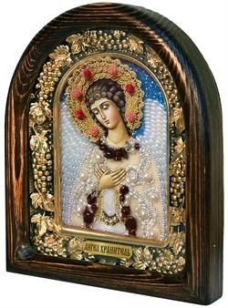 Ангел Хранитель, дивеевская икона из бисера ручной работы - фото 7223