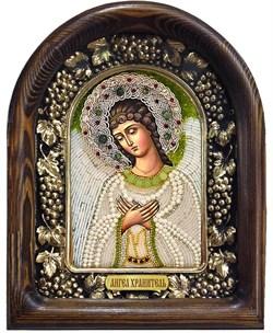 Ангел Хранитель, дивеевская икона из бисера ручной работы - фото 7230