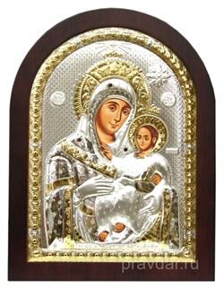 Вифлеевская Божья Матерь, икона с серебряным окладом - фото 7273