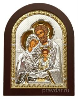 Святое Семейство, икона с серебряным окладом - фото 7309