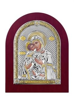 Владимирская Божия Матерь, серебряная икона деревянный оклад - фото 7453