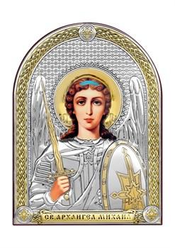 Михаил Архангел, серебряная икона с позолотой - фото 7489