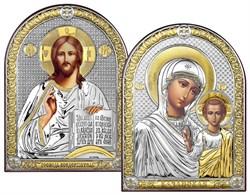 Венчальная пара серебряные иконы с позолотой (Казанская) - фото 7605