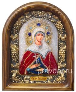 Аглаида Римская, дивеевская икона из бисера - фото 7817