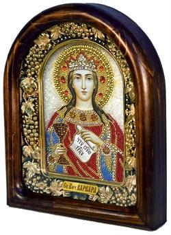 Варвара Святая Великомученица, дивеевская икона из бисера - фото 8010