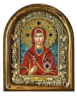 Анастасия Узорешительница, дивеевская икона из бисера - фото 8023