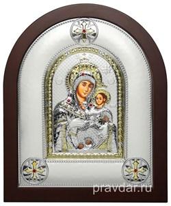 Вифлеемская Божья Матерь, греческая икона шелкография, серебряный оклад - фото 8256