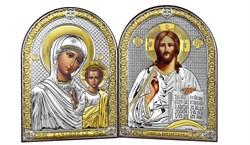 Венчальная пара серебряные иконы с позолотой (Казанская) - АКЦИЯ - фото 9445