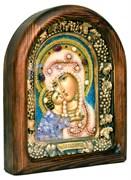 Владимирская Божья Матерь, дивеевская икона из бисера и натуральных камней