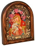 Жировицкая Божья Матерь, дивеевская икона из бисера ручной работы