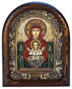 Неупиваемая Чаша образ Божией Матери, дивеевская икона из бисера ручной работы