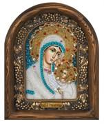 Утоли моя печали, дивеевская икона Божьей матери из бисера ручной работы