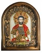 Иоанн Воин, дивеевская икона из бисера ручной работы