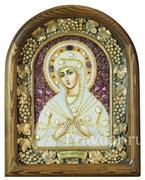 Семистрельная образ Божией Матери, дивеевская икона из бисера ручной работы