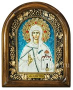 Людмила княгиня Чешская, дивеевская икона из бисера