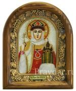 Ольга Святая Равноапостольная Княгиня, дивеевская икона из бисера
