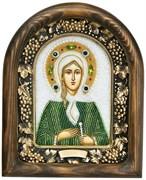 Ксения Петербургская, дивеевская икона из бисера