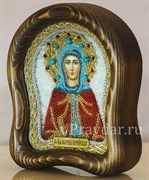 Марина Берийская преподобная, дивеевская икона из бисера