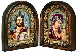 Венчальная пара, дивеевская икона (красный)
