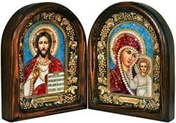 Венчальная пара, дивеевская икона (красно-синий)