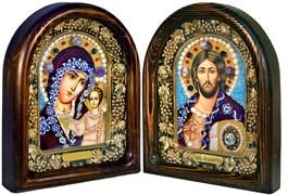 Венчальная пара, дивеевская икона (бордовый)