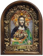 Иоанн Креститель, дивеевская икона из бисера ручной работы