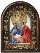 Иоанн Богослов, дивеевская икона из бисера ручной работы