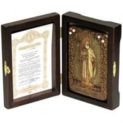 Владимир Святой князь икона ручной работы под старину