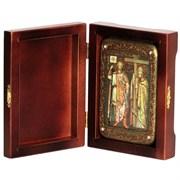 Константин и Елена Святые равноапостольные икона ручной работы под старину