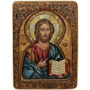 Господь Вседержитель, живописная икона в авторском стиле