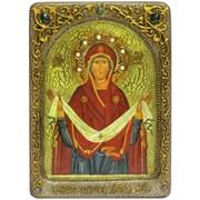 Покров Пресвятой Богородицы живописная икона в авторском стиле