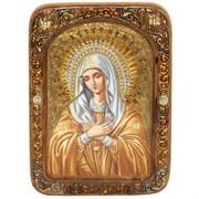 Умиление Серафимо-Дивеевская образ Божией Матери живописная икона в авторском стиле